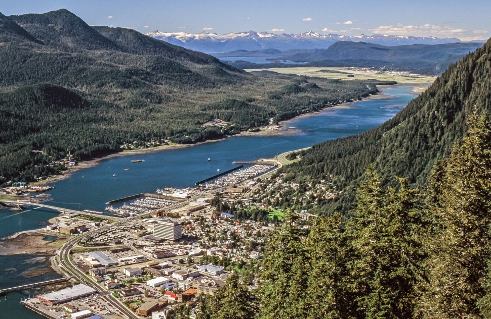 Free image of Aerial View Of Juneau City in Alaska