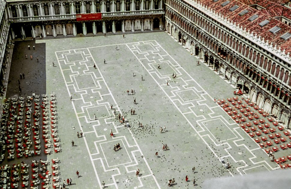 Free image of High Angle View of Piazza San Marco