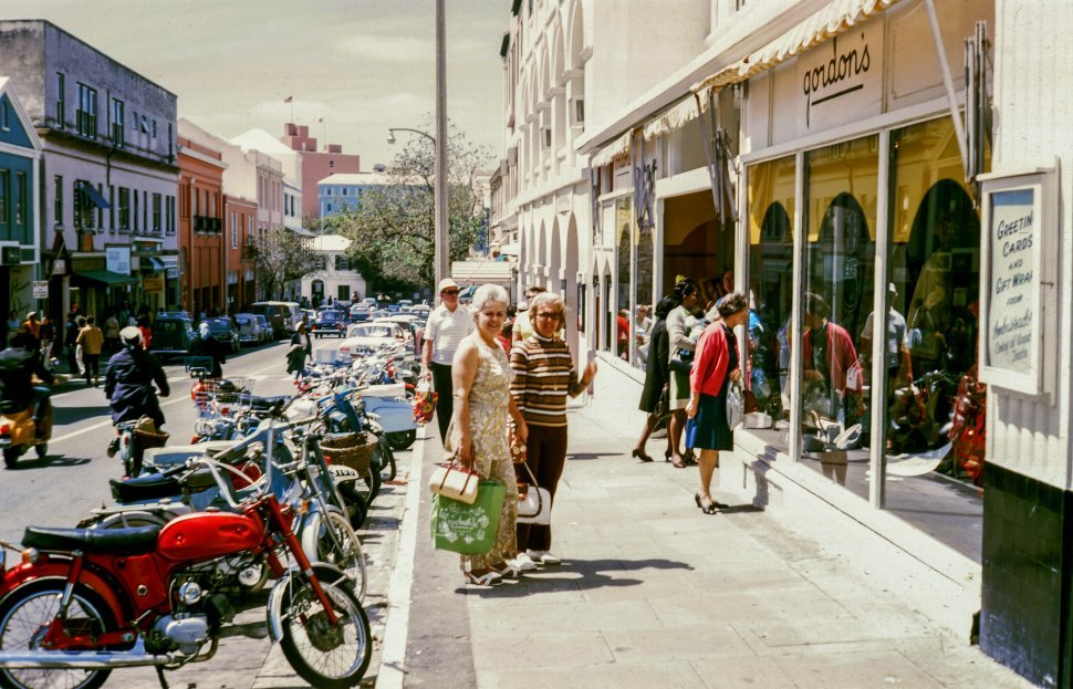 Free image of Two Women Shopping and Posing in the market