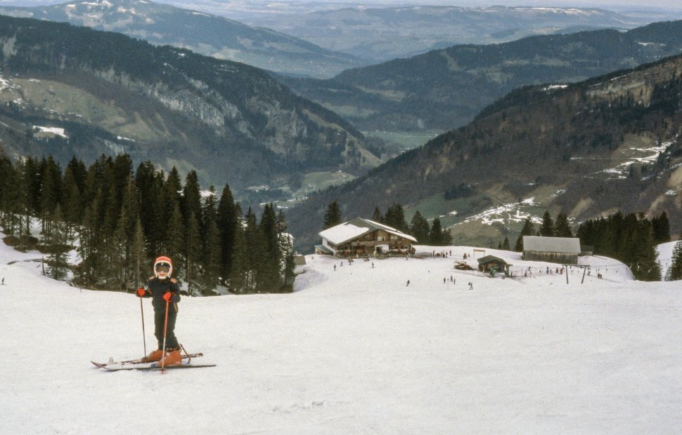 Free image of Skier skiing in the snow