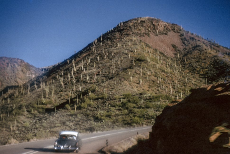 Free image of Winding drive up a mountain in Tucson, Arizona