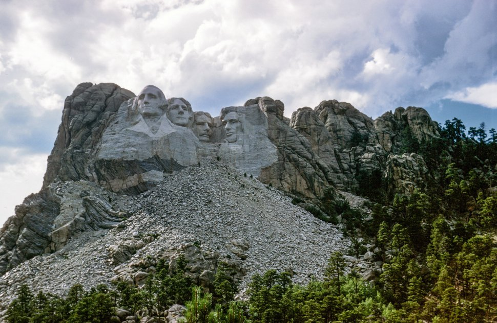 Free image of Shaded View of Mount Rushmore National Memorial in South Dakota