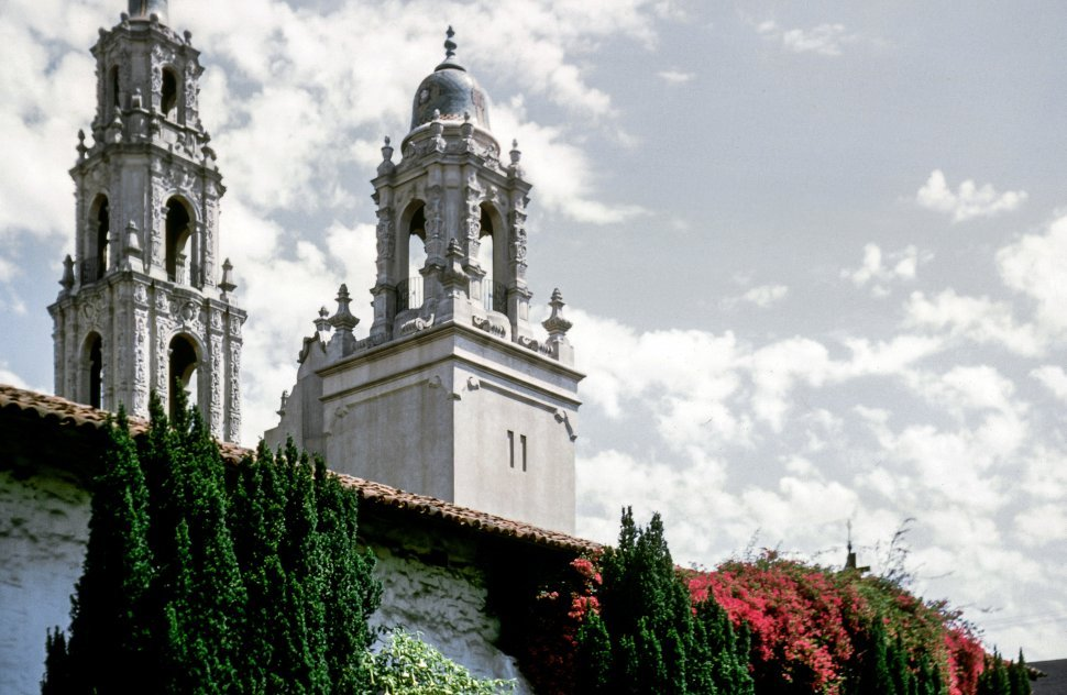 Free image of Low Angle view of church towers