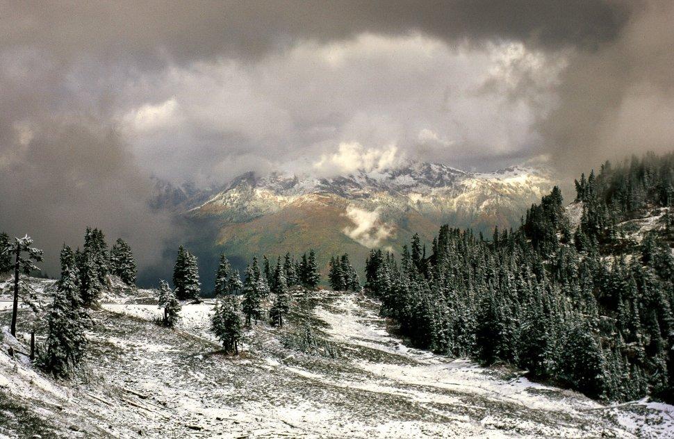 Free image of View of Stevens Pass Ski Area in Chelan County, Washington