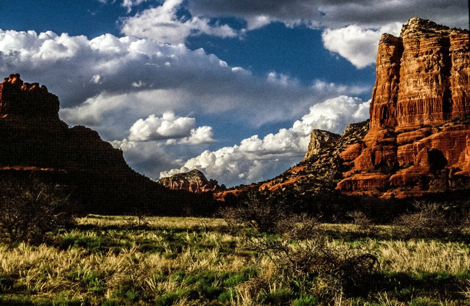 Free image of View of red cliffs in Sedona, Arizona