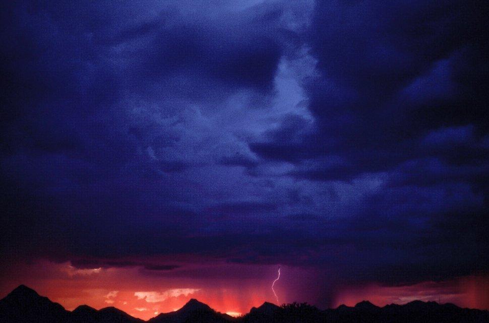 Free image of Lightning during Sunset