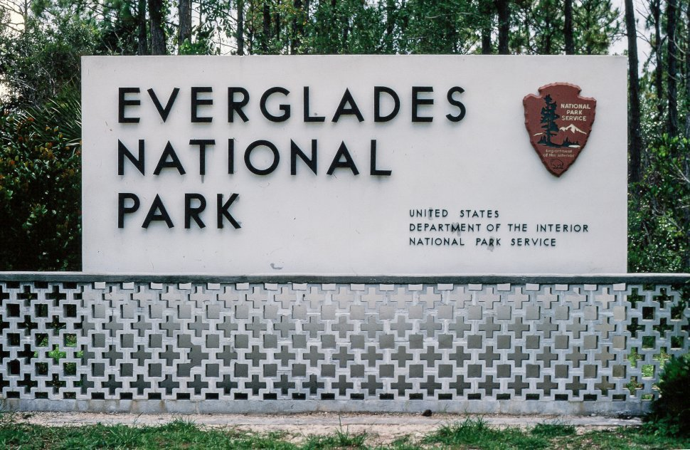 Free image of Entrance sign to the Everglades National Park, Florida, USA