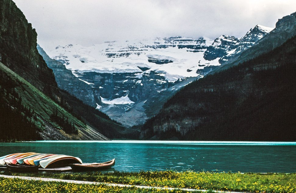 Free image of Lake Louise from Chateau Lake Louise, Banff National Park, Alberta, Canada