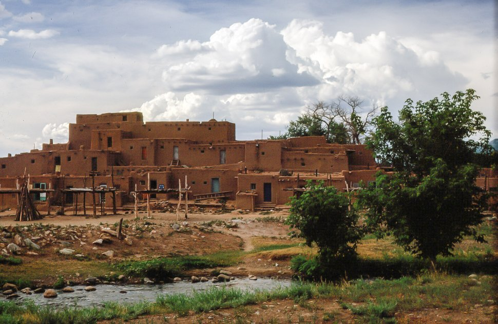 Free image of View of Houses at Taos Pueblo, New Mexico