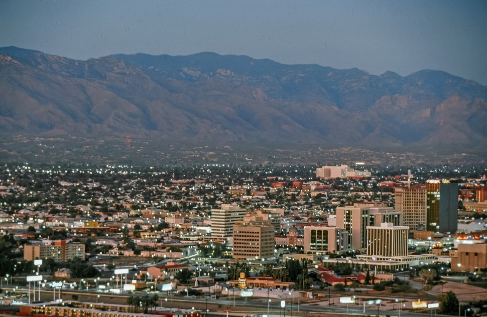 Free image of Overview of Downtown, Tucson, Arizona during a evening