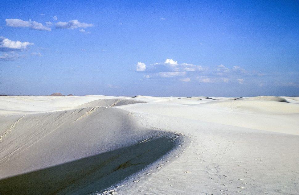 Free image of View of White Desert sand dunes