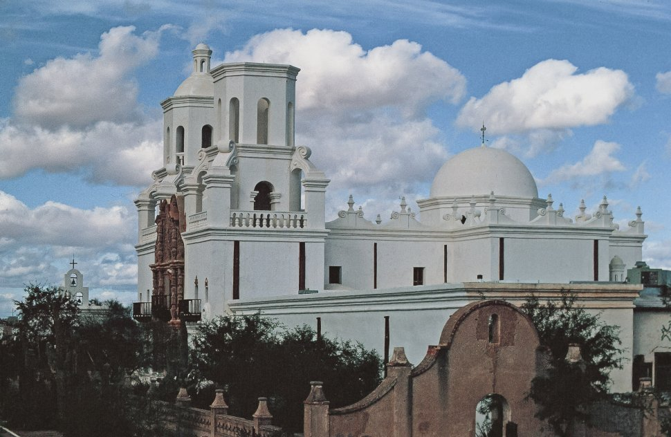 Free image of Exterior View of Mission San Xavier del Bac in Tucson, Arizona