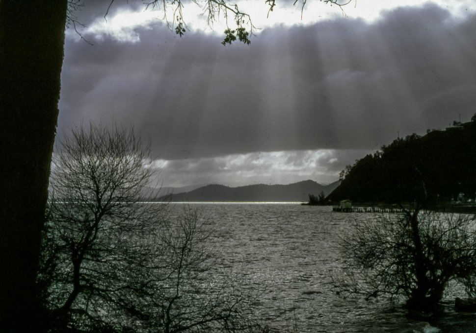 Free image of Sun beam on Clearlake, California