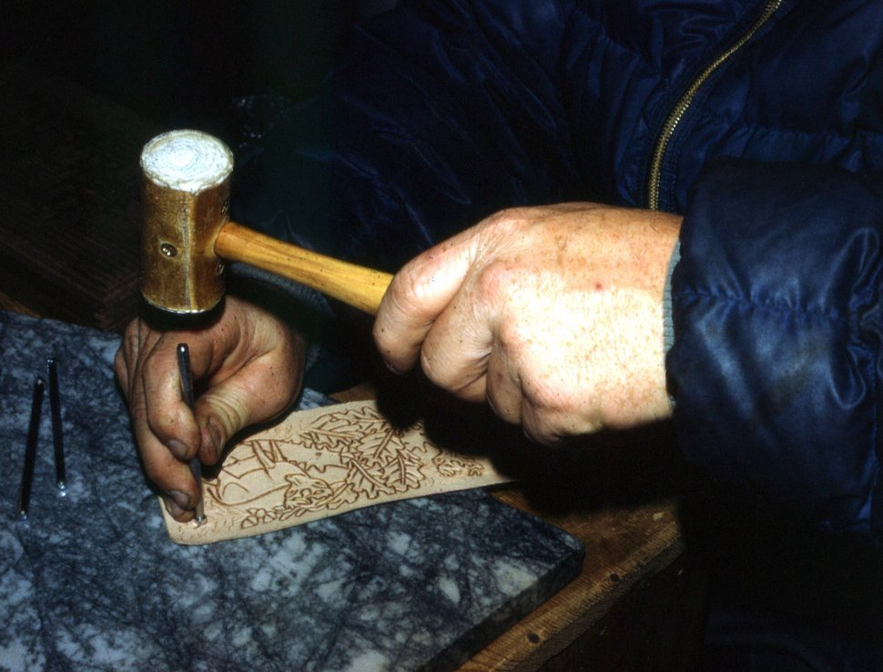 Free image of Close up of Hand Tooling Leather